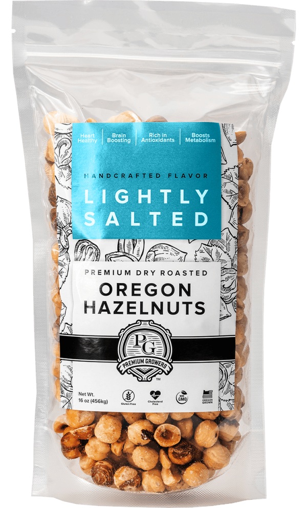 Premium Growers - Oregon Roasted Hazelnuts - Lightly Salted