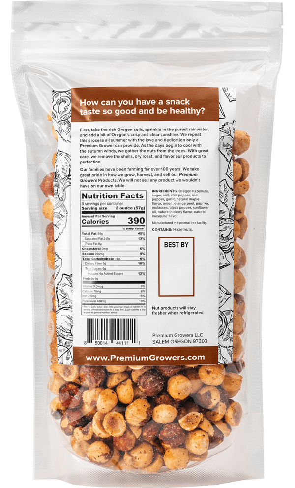 Premium Growers - Oregon Roasted Hazelnuts - Sweet Savory