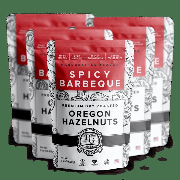 Premium Growers - Oregon Roasted Hazelnuts - Spicy BBQ