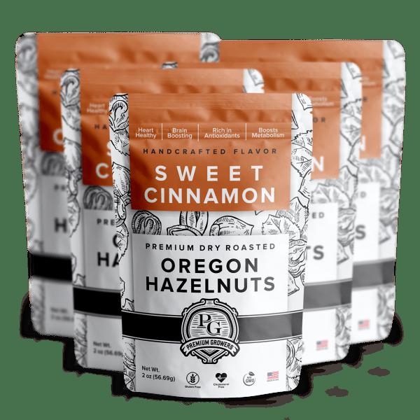 Premium Growers - Oregon Roasted Hazelnuts - Sweet Cinnamon