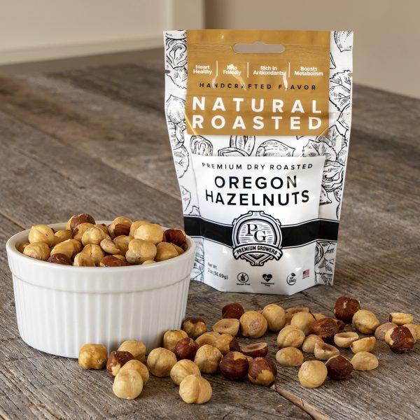 Premium Growers - Oregon Roasted Hazelnuts - Natural Roasted