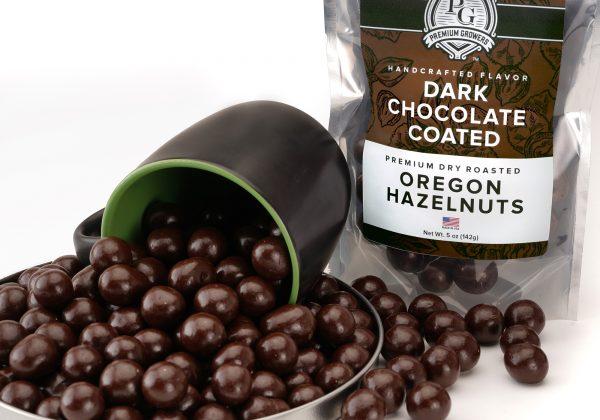 premium growers dark chocolate covered hazelnuts