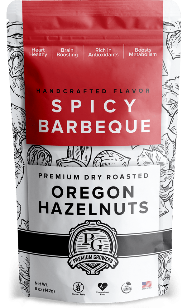 Premium Growers - Oregon Roasted Hazelnuts - Spicy BBQ