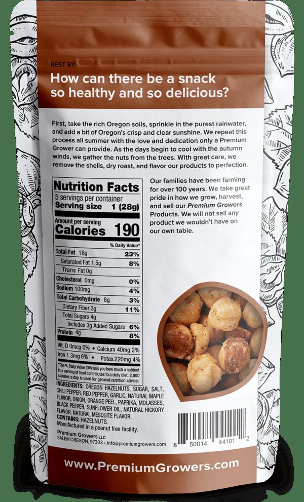 Premium Growers - Oregon Roasted Hazelnuts - Sweet Savory
