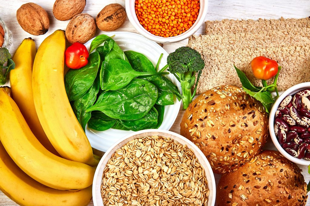 Set of high dietary fibre health food product concept