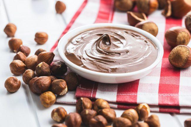 Sweet hazelnut spread. Chocolate cream.